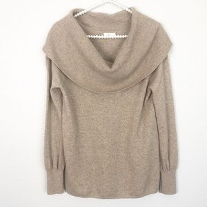 Joie Mikkelin Cashmere Drape Neck Sweater M